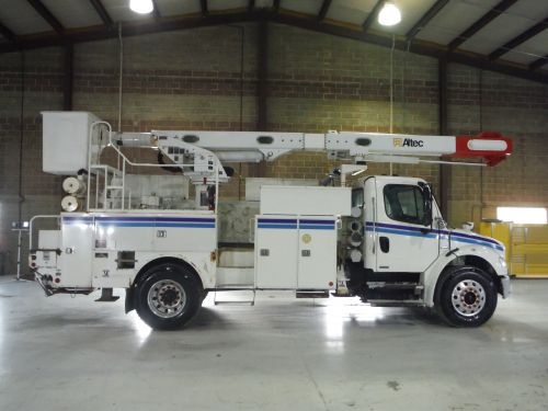 2007 FREIGHTLINER M2 BUSINESS CLASS 14' ALTEC UTILITY BED 60' WORK HEIGHT ALTEC LRV55 REAR MOUNT MODEL BOOM