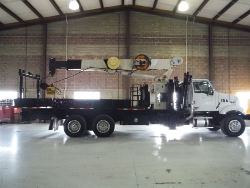 2008 STERLING ACTERRA 22 FT FLATBED 20 TON NATIONAL 600E2 3 SECTION CRANE
