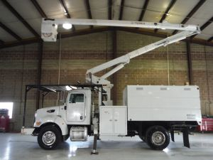 2008 PETERBILT PB340, 11' SOUTHCO FORESTRY BODY, 60' WORK HEIGHT TEREX RANGER XT-55 MODEL BOOM