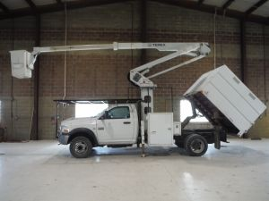 2011 DODGE RAM 5500HD 8 FT SOUTHCO FORESTRY BODY 45 FT WORK HEIGHT TEREX HI-RANGER LT-40 MODEL BOOM