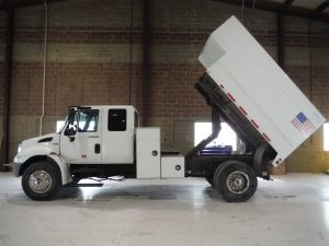 2008 INTERNATIONAL 4300 EXTENDED CAB 12X6 ARBORTECH HIGH CAPACITY CHIP BODY