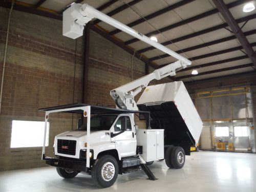 2006 GMC C7500, 11' SOUTHCO FORESTRY BODY, 60' WORK HEIGHT ALTEC LRV55 MODEL BOOM