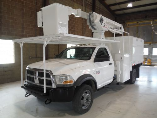 2011 DODGE RAM 5500HD 4x4 8 FT SOUTHCO FORESTRY BODY 45 FT WORK HEIGHT TEREX HI-RANGER LT-40 MODEL BOOM