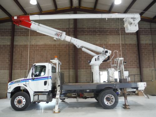 2007 FREIGHTLINER M2 BUSINESS CLASS 4X4 14' ALTEC FLATBED BED 60' WORK HEIGHT ALTEC LRV55