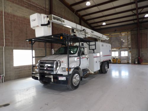 2009 FORD F750 11 FT READING FORESTRY BODY 65 FT WORK HEIGHT VERSALIFT VO260 MODEL BOOM
