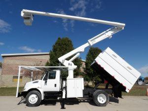 2012 INTERNATIONAL 4300, 12' FORESTRY BODY, 61' WORK HEIGHT ALTEC LRV56 MODEL BOOM