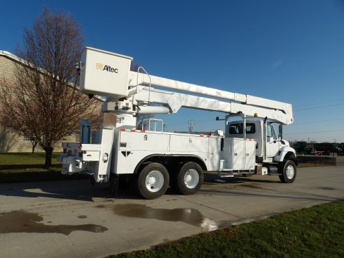 2013 INTERNATIONAL 7400 6X6, 22' ALTEC UTILITY BODY, 82' WORK HEIGHT ALTEC A77-T MATERIAL HANDLER REAR MOUNT MODEL BOOM