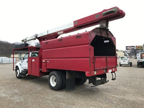 2010 FORD F750 11 FT FORESTRY BODY 75 FT WORK HEIGHT VERSALIFT VO270 ELEVATOR MODEL BOOM
