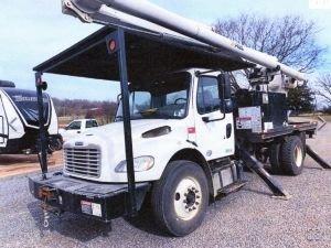 2013 FREIGHTLINER M2 106, FLATBED, 75' WORK HEIGHT ALTEC LRV60-70 ELEVATOR REAR MOUNT MODEL BOOM