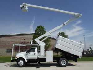 2009 FORD F750, 11' FORESTRY BODY, 65' WORK HEIGHT LIFTALL LSS-60-1S MODEL BOOM