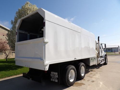 2008 FREIGHTLINER BUSINESS CLASS M2 6x4, 20' NORTHSHORE DUMP BODY W/REMOVALBALE TOPS, NATIONAL N100 HYDRAULIC KNUCKLE BOOM CRANE