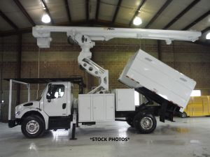 2011 FREIGHTLINER M2 106, FORESTRY BODY, 75' WORK HEIGHT ALTEC LRV60-70 ELEVATOR MODEL BOOM