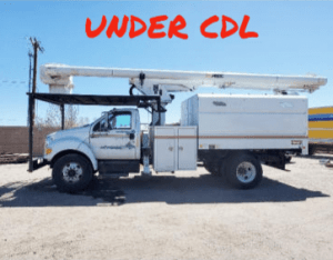 2010 FORD F750 UNDER CDL, FORESTRY BODY, 61' WORK HEIGHT ALTEC LRV56 MODEL BOOM