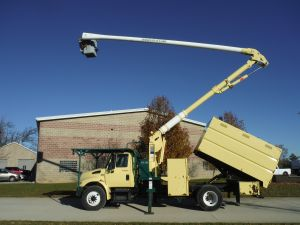 2012 INTERNATIONAL 4300, 11' FORESTRY BODY, 65' WORK HEIGHT AERIAL LIFT OF CONNECTICUT AL65/53-5-1L-1H MODLE BOOM