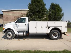 2011 FORD F750 12 FT STAHL UTILITY BODY SERVICE TRUCK