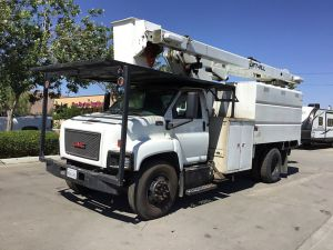 2009 GMC C7500 11 FT SOUTCO FORESTRY BODY 60 FT WORK HEIGHT LIFT-ALL LSS55-1S MODEL BOOM