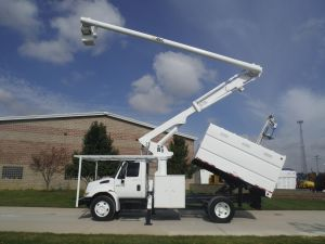 2004 International 4200 11 Ft. Arbortech Forestry Body 61 Ft. Work Height Altec LRV56 Model Boom