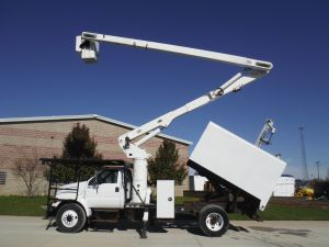 2006 Ford F750 11 Ft. Arbortech Forestry Body 60 Ft. Work Height Versalift VO255 Model Boom