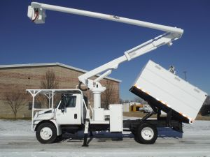 2005 International 4300 11 Ft. Arbortech Forestry Body 61 Ft. Work H eight Altec LRV56 Model Boom